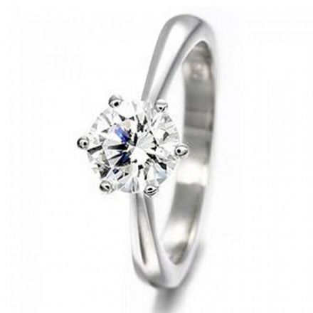 Platinum 0.40ct Six Claw Solitaire H SI Diamond Engagement Ring , P6ER0235